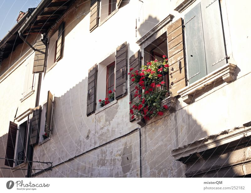 ländlich. Fenster Gebäude ästhetisch Dorf Bayern Gasse Tradition Fensterladen Kleinstadt Fensterblick Fensterbrett Fensterrahmen Bergdorf