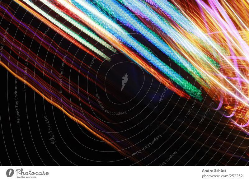 traces Freude Gefühle hell Technik & Technologie drehen schaukeln Leuchtspur Licht