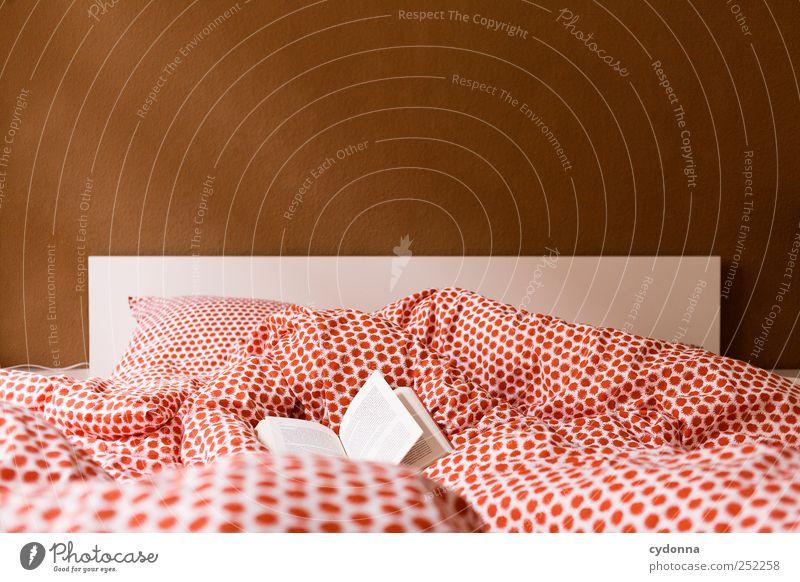 Ausgeflogen ruhig Erholung träumen Freizeit & Hobby Raum Zeit Wohnung Buch Design Abenteuer lernen Lifestyle Häusliches Leben Bett lesen Bildung