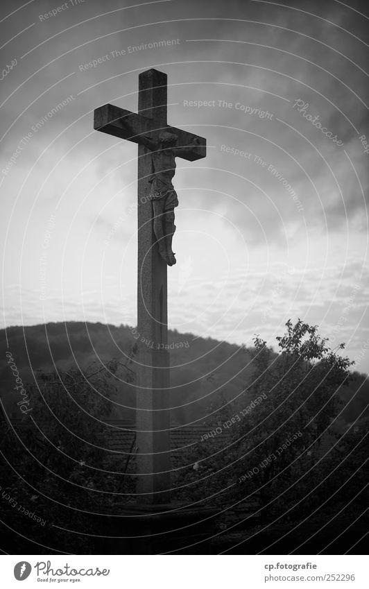 Lebensweg Christliches Kreuz Jesus Christus Wolken Himmel Himmel (Jenseits) Schwache Tiefenschärfe Dach