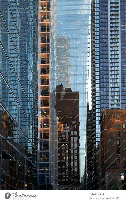 #A# Fassaden-Labyrinth bevölkert ästhetisch Großstadt Toronto Fassadenverkleidung Glasfassade Gebäude Hochhaus Kanada Farbfoto Gedeckte Farben Außenaufnahme