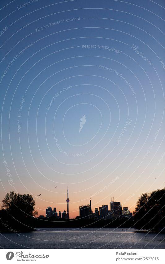 #A# Nacht in Toronto Skyline ästhetisch Toronto Congress Center Kanada Sonnenuntergang Großstadt Fernweh Tourismus Abenddämmerung Farbfoto Gedeckte Farben