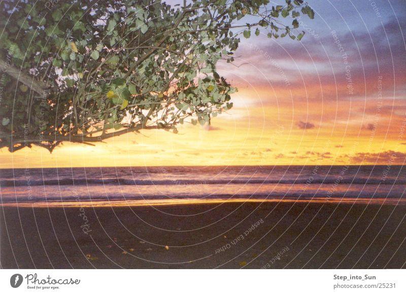 Sunset at Legian Beach Sonnenuntergang Strand Bali Meer Ferien & Urlaub & Reisen Indonesien Asien Erholung