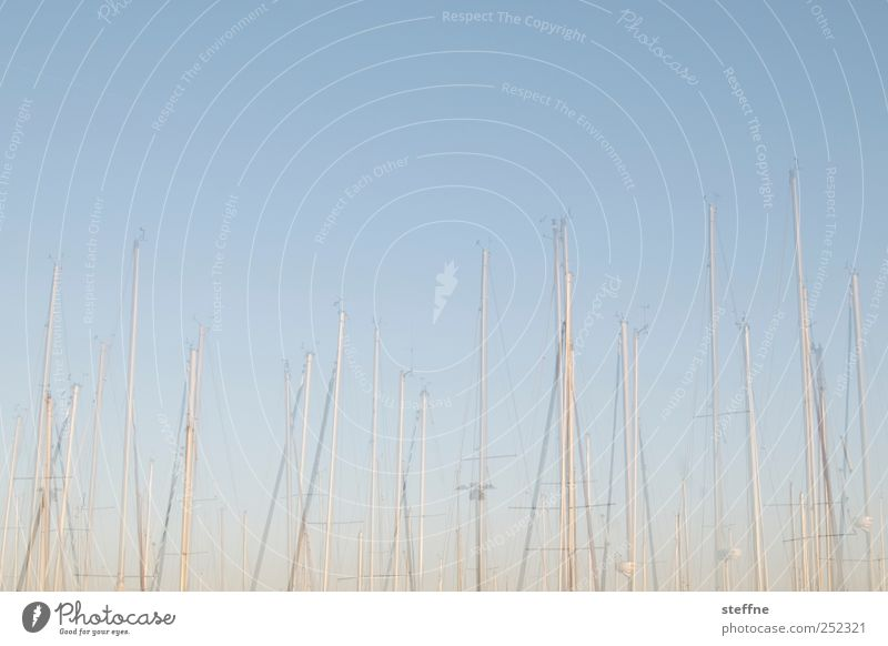 mast have Schifffahrt Bootsfahrt Fischerboot Jacht Segelboot Hafen Jachthafen Ferien & Urlaub & Reisen Segeln Segeltörn Doppelbelichtung Farbfoto Außenaufnahme