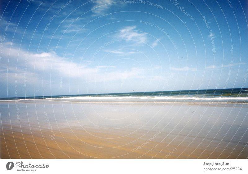 Beach & Water Strand Sandinsel Australien Ostküste Meer Wolken Fraser Island Ferien & Urlaub & Reisen 4weeldrive Blauer Himmel