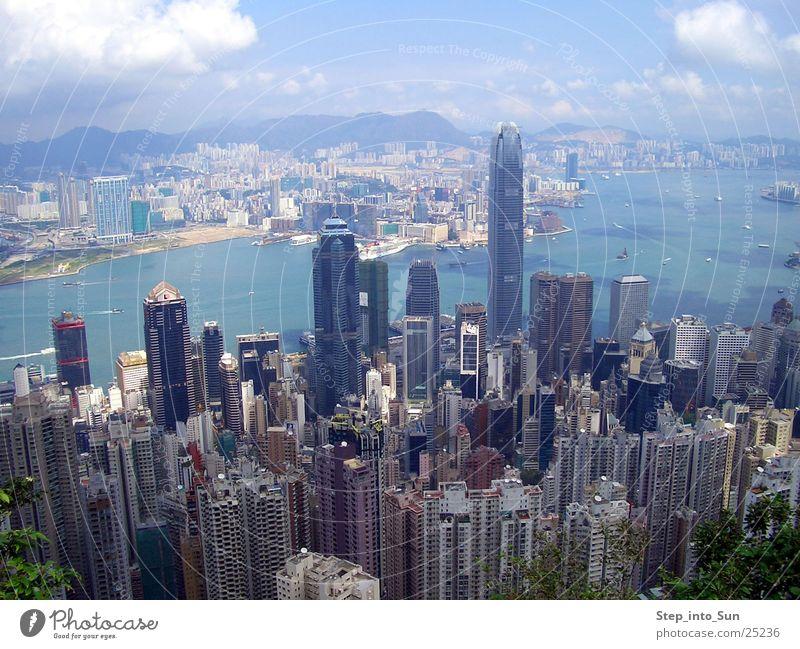 Hongkong from Peakview Hochhaus Kowloon Stadt Wohnung Erfolg harbour hongkong island peakview