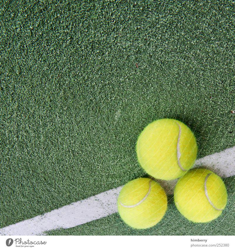 doppelfehler grün gelb Sport Spielen Stil Freizeit & Hobby Lifestyle Coolness Wellness Spielfeld Übergewicht fangen Wohlgefühl Sportveranstaltung wählen Tennis