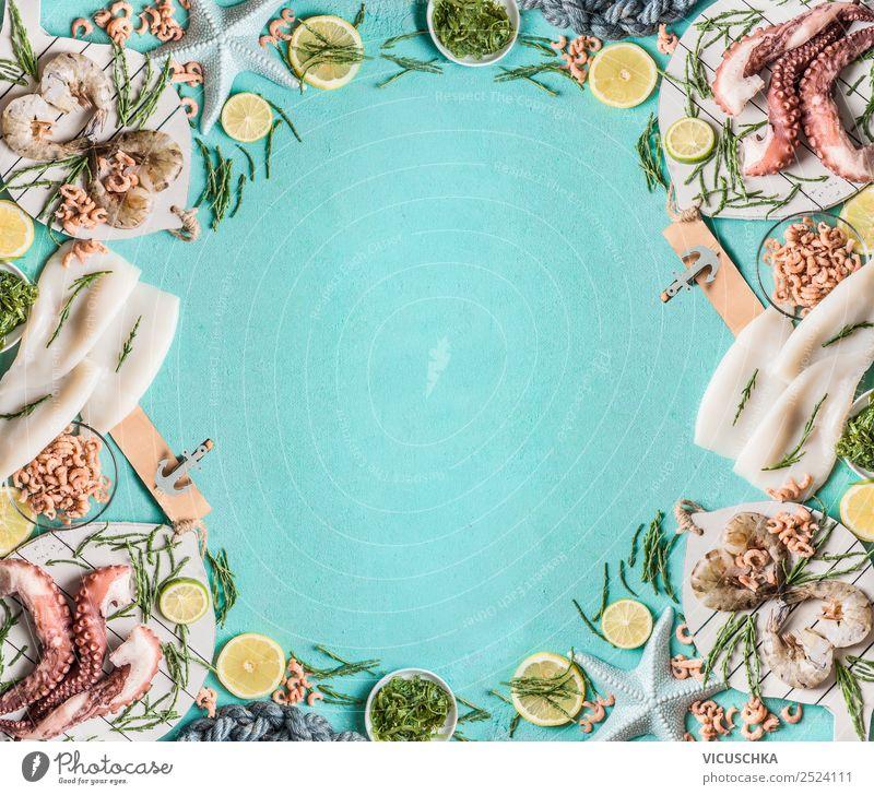 Meeresfrüchte Hintergrund Lebensmittel Ernährung Mittagessen Abendessen Festessen kaufen Stil Design Gesunde Ernährung Restaurant Hintergrundbild Garnelen
