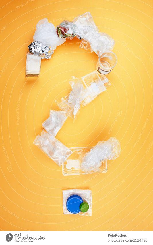 #A# Muss Verpackung Sein? Kunst ästhetisch Zukunft Zukunftsangst Futurismus Kunststoff Skulptur innovativ Plastiktüte Fragezeichen Collage Verpackungsmaterial