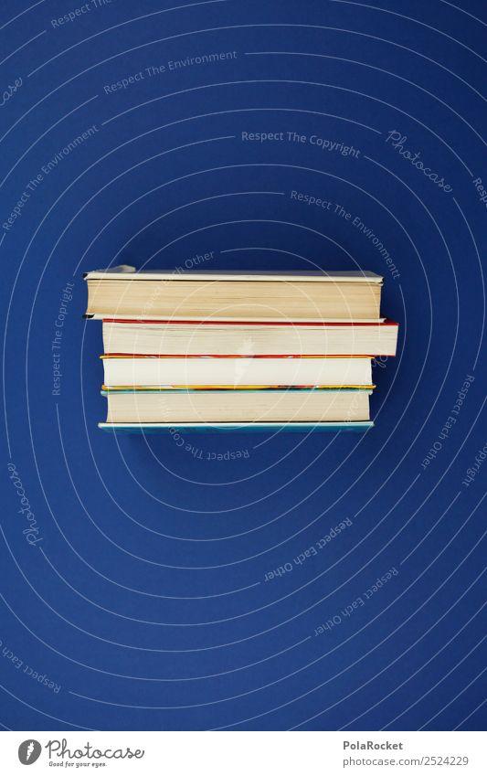 #A# Bücherstapel blau Kunst Schule ästhetisch lernen Buch Studium Schulgebäude Wissenschaften Stapel Literatur Wissenschaftler Leser Leseratte Bücherregal