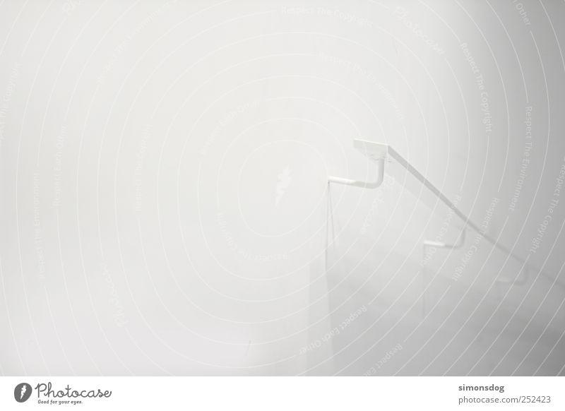 wege Mauer Wand Treppe Fassade bauen berühren festhalten gehen Häusliches Leben einfach elegant hell einzigartig modern weiß Sicherheit Beginn anstrengen