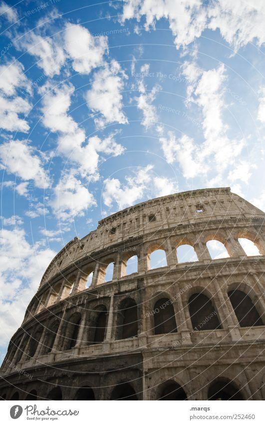 Rom alt Ferien & Urlaub & Reisen Architektur groß Macht Kultur Bauwerk Italien Wahrzeichen Sightseeing Sehenswürdigkeit Städtereise Kolosseum Historische Bauten