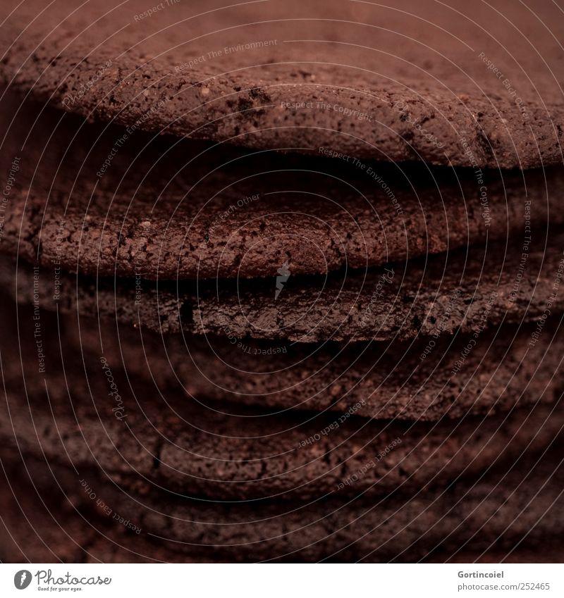 Cookie Lebensmittel Teigwaren Backwaren Kuchen Süßwaren Ernährung lecker süß braun Keks knackig Knabbereien Foodfotografie Farbfoto Gedeckte Farben Nahaufnahme