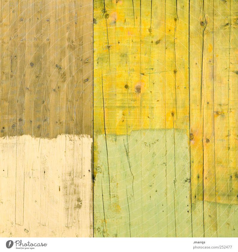 Pastell Lifestyle Design Arbeit & Erwerbstätigkeit Anstreicher Mauer Wand Holz einfach hell gelb streichen Farbstoff Farbfoto Außenaufnahme Muster
