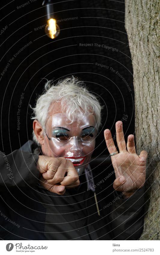 indifferentes Ziel Mensch Hand Leben Gefühle außergewöhnlich Angst maskulin einzigartig beobachten bedrohlich Neugier geheimnisvoll Maske Wut Überraschung