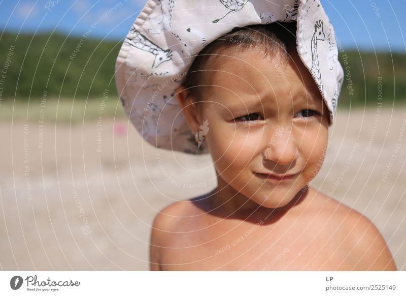 Oh wirklich? Lifestyle schön Wellness Leben harmonisch Wohlgefühl Zufriedenheit Sinnesorgane Erholung ruhig Meditation Sonnenbad Strand Mensch feminin Kind