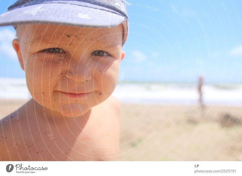 Sand auf meinem Gesicht Lifestyle Wellness Leben harmonisch Zufriedenheit Ferien & Urlaub & Reisen Abenteuer Ferne Freiheit Sommer Sommerurlaub Sonne Sonnenbad