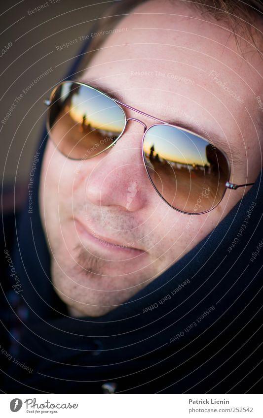 World in My Eyes Mensch Mann Jugendliche schön Ferien & Urlaub & Reisen Sonne ruhig Erwachsene Erholung Freiheit Kopf Stil Zufriedenheit elegant maskulin