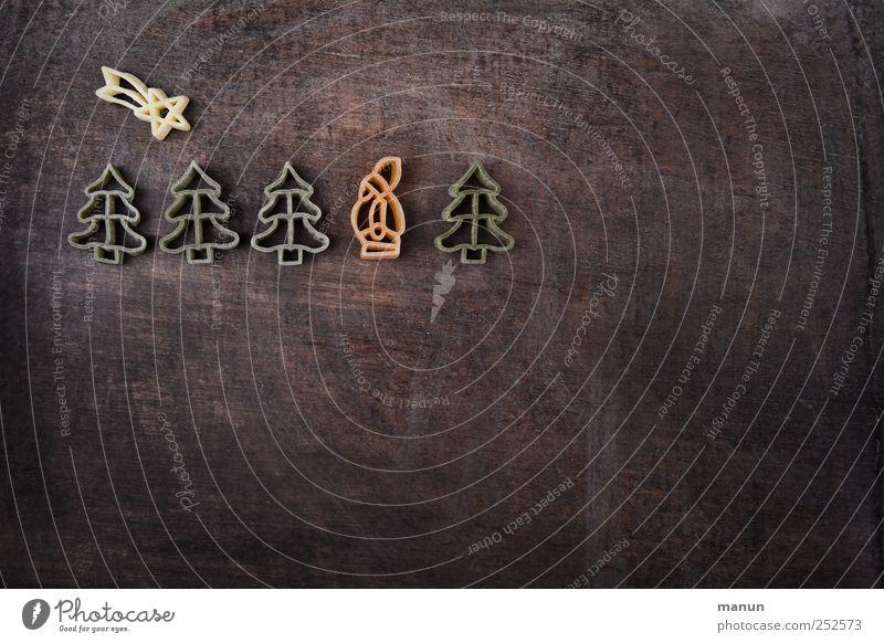 Bald kommt der Nikolaus Weihnachten & Advent Ernährung Lebensmittel Religion & Glaube Feste & Feiern braun natürlich Stern (Symbol) einfach Kitsch Zeichen Glaube Weihnachtsmann Tanne Bioprodukte Nudeln