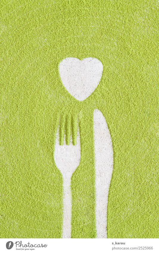 Food Hintergrund mit Matcha Lebensmittel Ernährung Bioprodukte Vegetarische Ernährung Diät Fasten Getränk Heißgetränk Tee Messer Gabel Lifestyle Gesundheit
