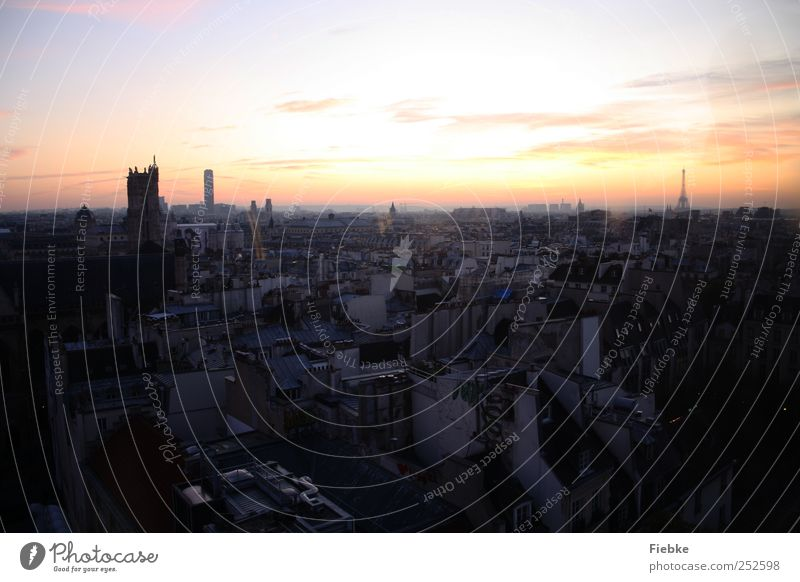 Paris Himmel schön Stadt Ferien & Urlaub & Reisen Haus Freiheit Gebäude rosa Tourismus Häusliches Leben Dach Unendlichkeit Skyline Denkmal historisch