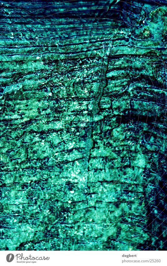 Wasserfall kalt Höhle Wassertropfen blau Stein
