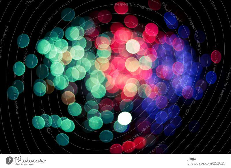 New Years Bokeh Nachtleben Feste & Feiern Menschenleer glänzend verrückt blau mehrfarbig grün violett rosa rot Feuerwek Unschärfe Farbfoto Außenaufnahme