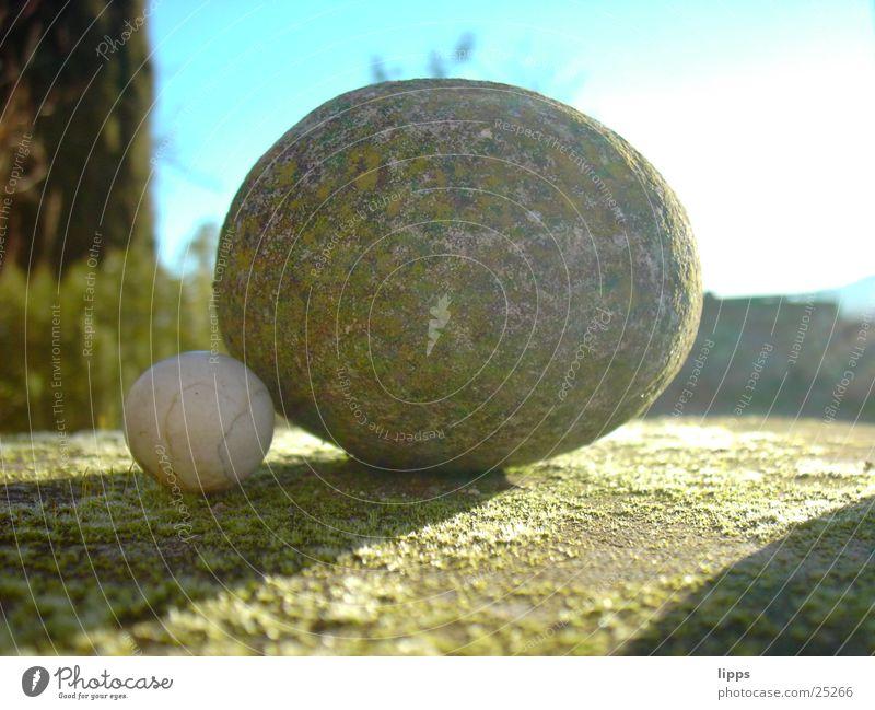 Stein auf Stein Kugel Schatten Konstruktion