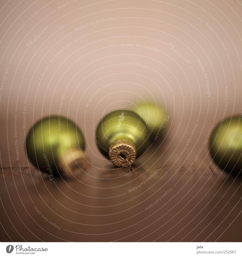 weihnachtsschmuck Feste & Feiern Dekoration & Verzierung Kitsch Krimskrams ästhetisch schön braun gold grün Weihnachtsdekoration Christbaumkugel Farbfoto