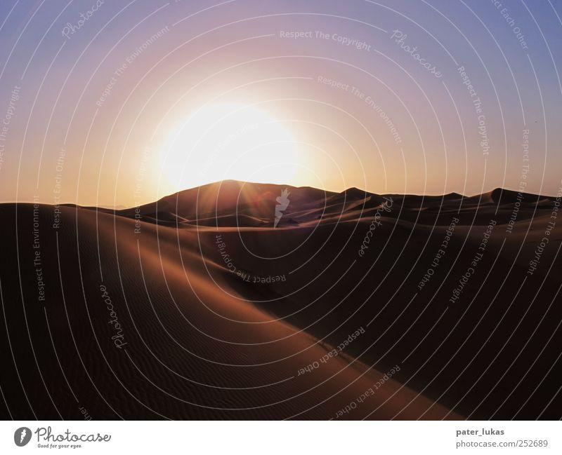 Wavy Sunset Natur Sonne Ferien & Urlaub & Reisen Sommer Ferne Freiheit Landschaft Sand Abenteuer groß ästhetisch trist Urelemente Reisefotografie Hügel Wüste