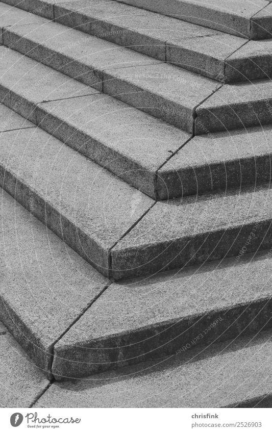 Treppenstufen sw Architektur Bewegung grau gehen laufen