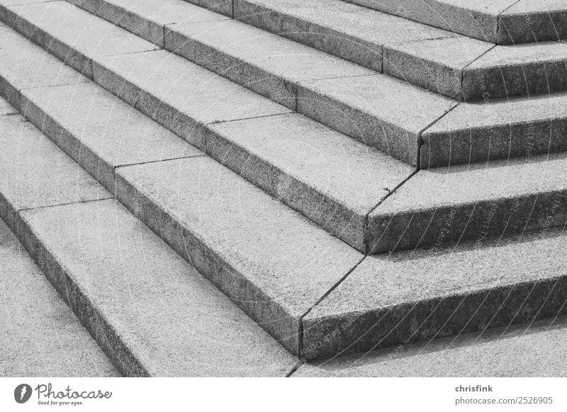 Treppenstufen sw Museum Bühne Haus Bauwerk Architektur Terrasse Wege & Pfade gehen grau schwarz weiß Palast Schwarzweißfoto Tag