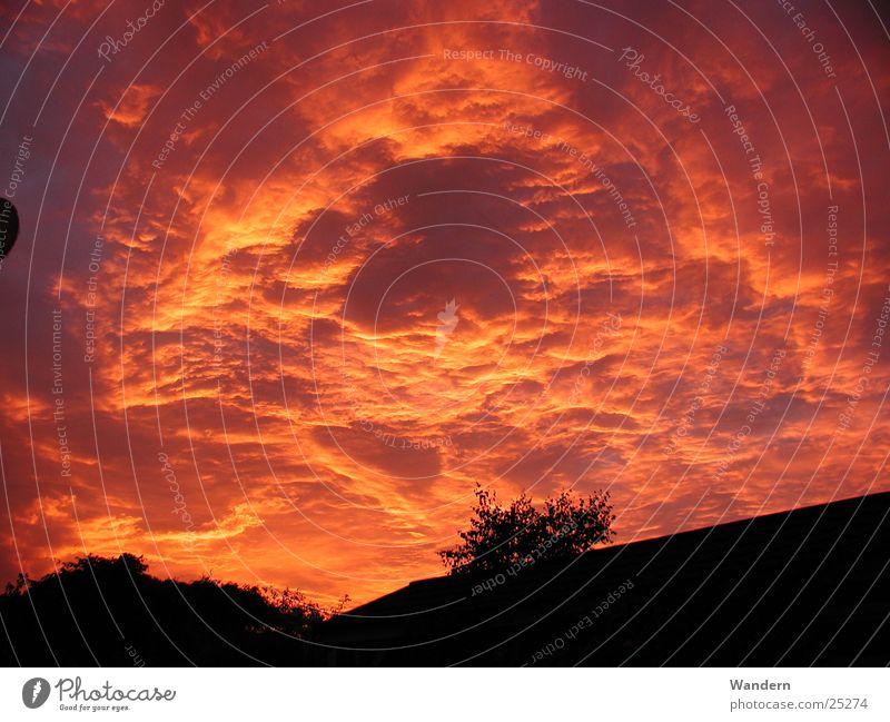 Sonnenuntergang Wolken Stimmung Kleinnaundorf Abend Himmel