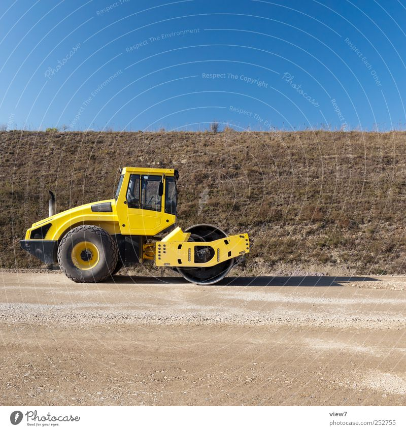 Walter die Walze Handwerker Baustelle Güterverkehr & Logistik Verkehr Verkehrsmittel Straße Straßenkreuzung Fahrzeug bauen machen stehen authentisch einfach