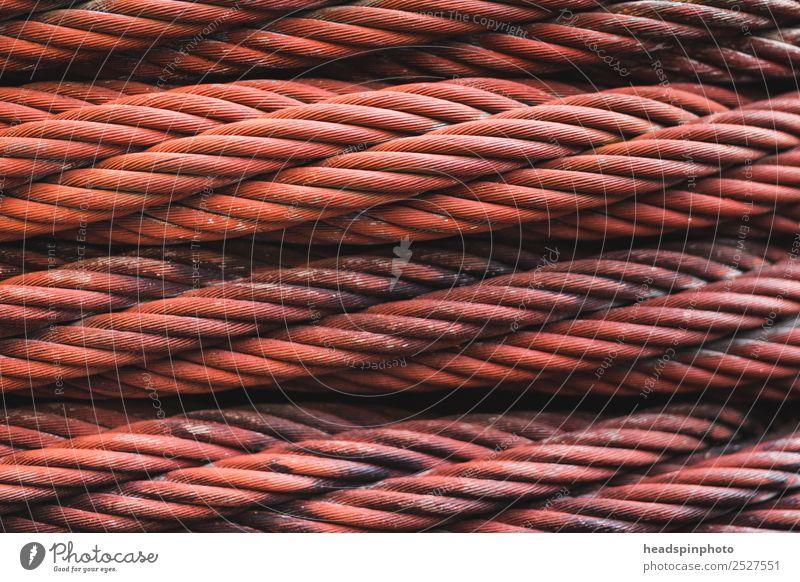 Rostiges Eisenkabel Handwerker Fabrik Baustelle Maschine Technik & Technologie Industrie Metall Netzwerk Arbeit & Erwerbstätigkeit festhalten dreckig stark