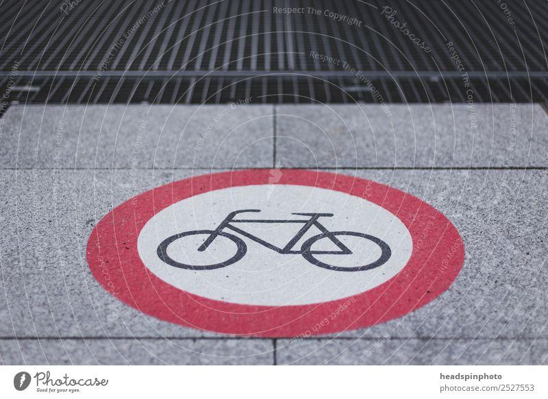 Durchfahrt für Fahrräder verboten Sport Fitness Sport-Training Fahrradfahren Klima Stadtzentrum Fußgängerzone Verkehrsmittel Verkehrswege Straßenverkehr