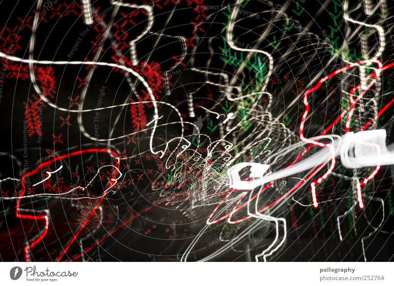 drive carefully! weiß grün rot Straße Bewegung Angst Verkehr verrückt gefährlich leuchten Pfeil Kreuz zeichnen Autobahn Verkehrswege Richtung