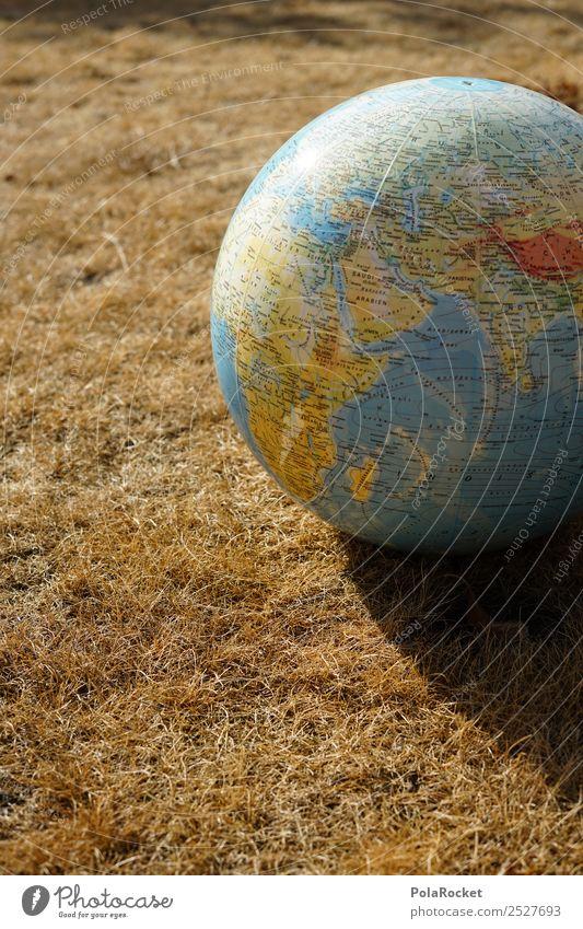 #S# Trockenheit II Umwelt Natur Schutz Erde Globus Dürre Gras Planet Kontinente Landkarte Klima Klimawandel Kugel Wiese Stroh Farbfoto Außenaufnahme Nahaufnahme