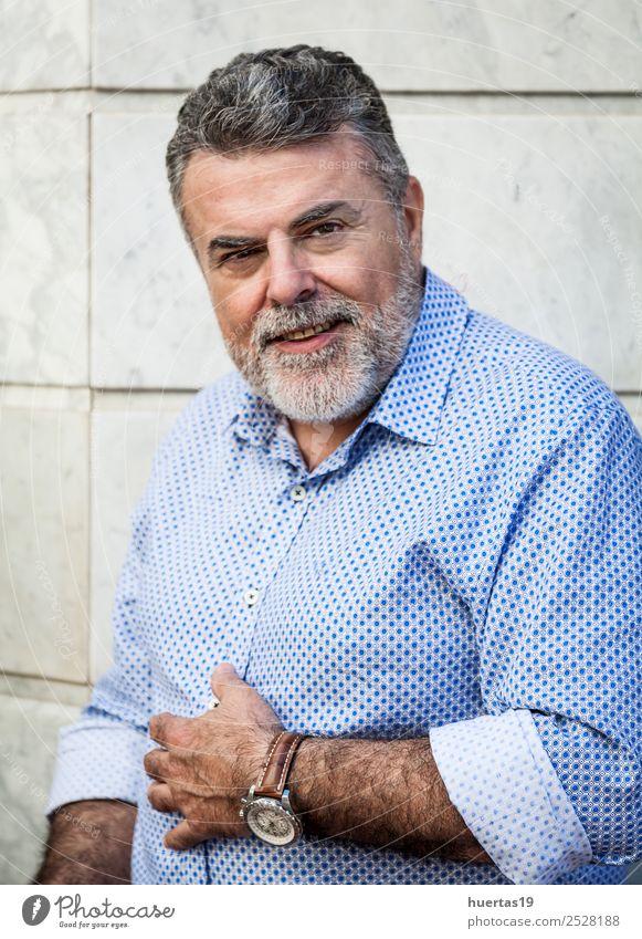 Mensch Mann weiß Erotik ruhig Gesicht Erwachsene Lifestyle Stil Mode Haare & Frisuren maskulin elegant 45-60 Jahre stehen Bekleidung