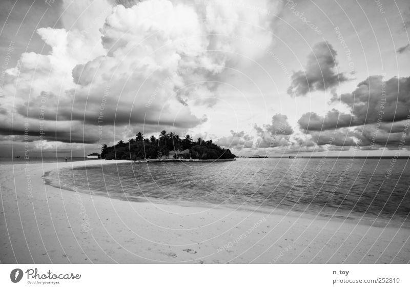 Die Insel Himmel Natur Wasser schön Ferien & Urlaub & Reisen Sommer Strand Meer Wolken Ferne Küste Insel Romantik Idylle Asien Palme