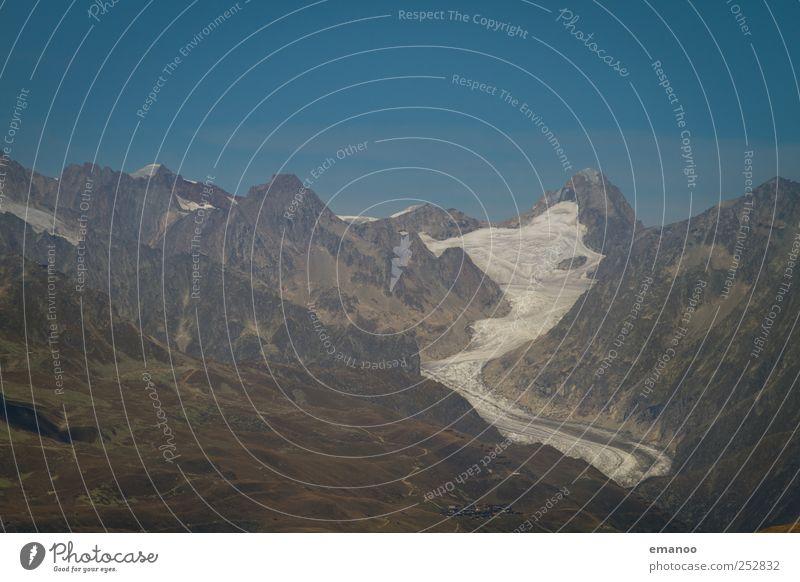 Gletscherzunge Himmel Natur Wasser Ferien & Urlaub & Reisen Sommer Umwelt Berge u. Gebirge Landschaft Wetter Eis Felsen hoch wandern Abenteuer Klima Frost