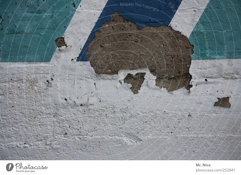 Australien Umwelt Gebäude Fassade kaputt Putz Mauer Wand Stein Beton Verfall trist Blauton verwittert Kontinente baufällig abstrakt Putzfassade Renovieren