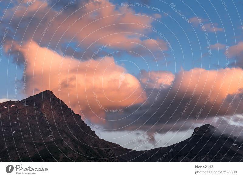 Steinig | felsiger Gipfel Berge u. Gebirge Umwelt Landschaft Himmel Wolken Wetter Schönes Wetter Felsen Alpen Stimmung Freude fleißig Ausdauer standhaft