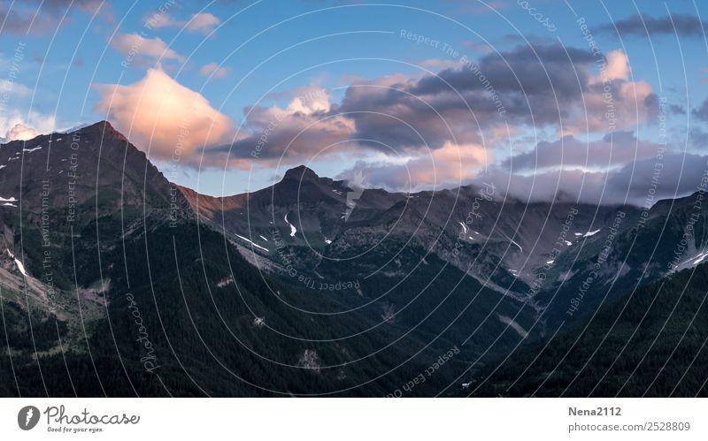 Nullachtfünfzehn   Wolken über Berge Himmel Natur Ferien & Urlaub & Reisen Landschaft Erholung ruhig Berge u. Gebirge Gesundheit Umwelt natürlich Sport Freiheit
