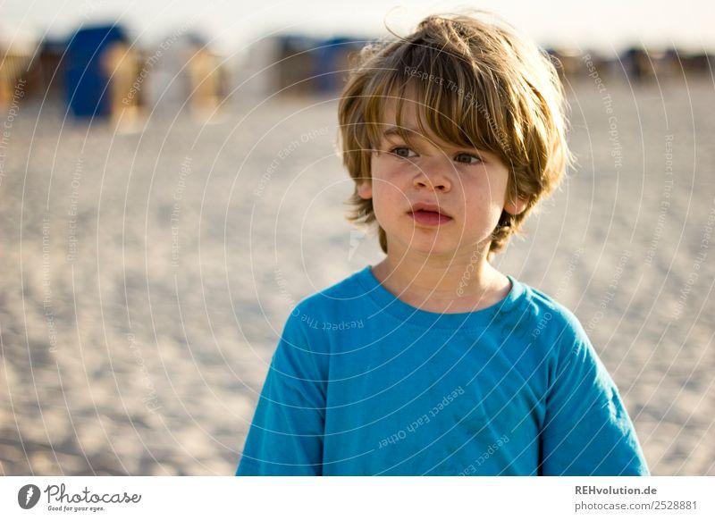 Junge am Strand Freizeit & Hobby Ferien & Urlaub & Reisen Tourismus Freiheit Sommer Sommerurlaub Mensch maskulin Kind Kindheit Gesicht 1 3-8 Jahre Umwelt Natur