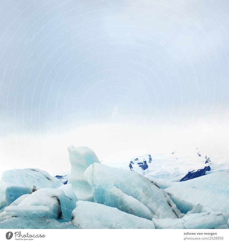 Eiswürfel Umwelt Natur Landschaft Himmel Klimawandel Frost Schnee Gletscher Bucht Fjord See frieren genießen Ferien & Urlaub & Reisen Stimmung Begeisterung