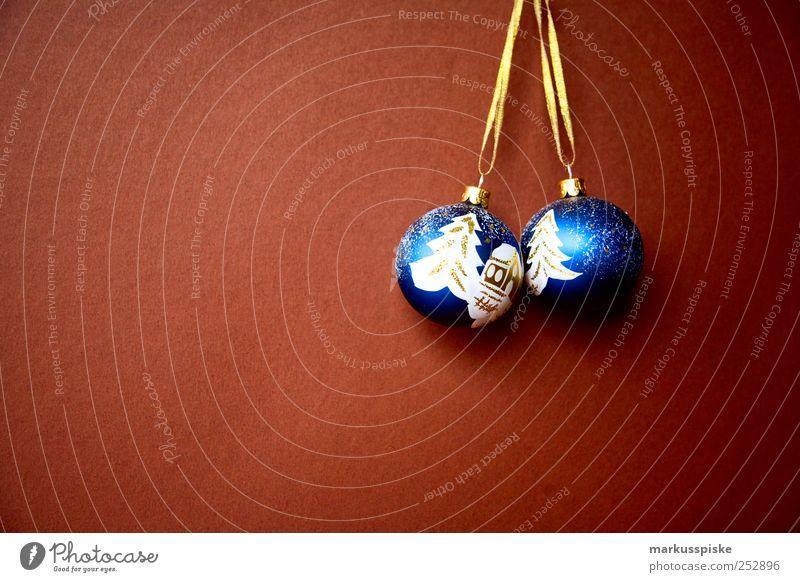 christbaumkugeln blau Weihnachten & Advent Winter Innenarchitektur Stimmung Wohnung Schneefall glänzend träumen Häusliches Leben leuchten