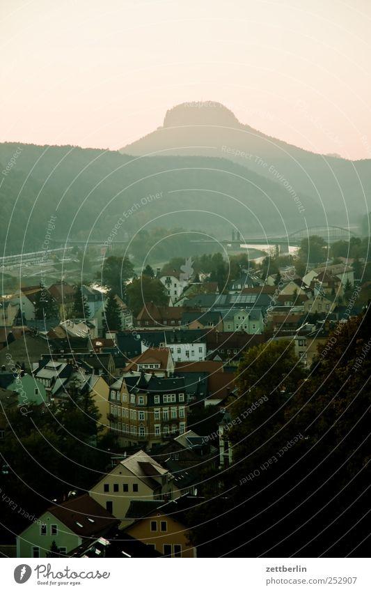 Lilienstein am Nachmittag Erholung Freizeit & Hobby Ferien & Urlaub & Reisen Tourismus Ausflug Abenteuer Ferne Freiheit Natur Landschaft Himmel Horizont Herbst