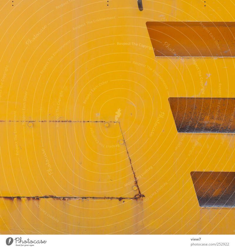 Baumschine Metall Stahl Rost Linie alt authentisch frisch hässlich verrückt gelb ästhetisch Design Endzeitstimmung Farbe Genauigkeit Ordnung