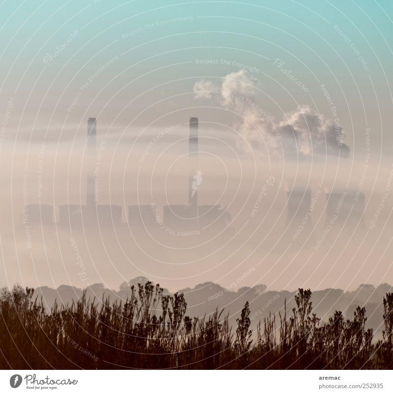 Energiekrise Umwelt Nebel Energiewirtschaft Abgas Wasserdampf Stromkraftwerke Umweltverschmutzung Emission Kühlturm